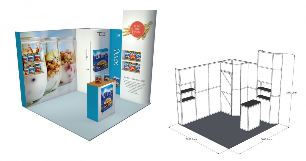 Small Exhibition Stands : Small exhibition stand gomac signs