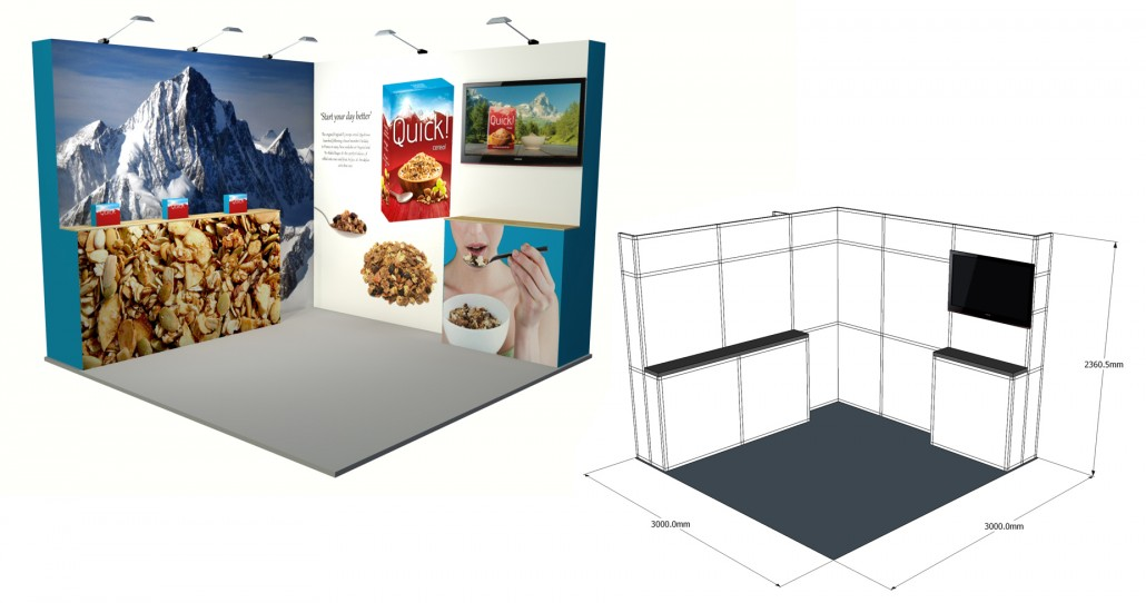 Small Exhibition Stand Sizes : Small exhibition stand gomac signs