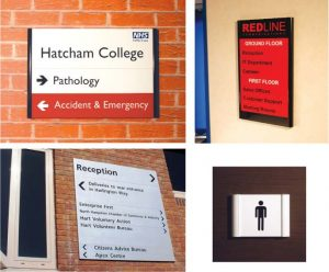 Wall mounted wayfinding
