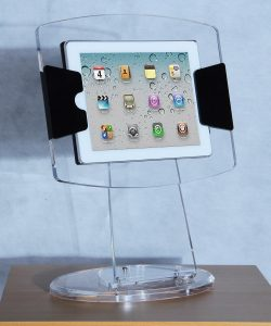 Crystal tablet stand